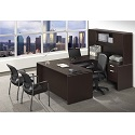 Click here for more Classic Series PL18 U-Shaped Desk w/ Hutch by NDI Office Furniture by Worthington
