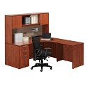 Click here for more Classic Series PL31 L-Shaped Desk w/ Hutch by NDI Office Furniture by Worthington