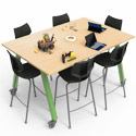 Planner Studio Tables with Casters by Smith System