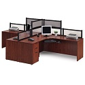 Click here for more PLB25 Two Person Workcenter by NDI Office Furniture by Worthington