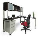 Click here for more Elements PLT13 L-Shaped Desk w/ Hutch by NDI Office Furniture by Worthington