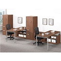 Click here for more Elements PLT27 Two Person Workstation w/ Wardrobe Storage by NDI Office Furniture by Worthington