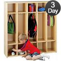 Eco Five-Section Preschool Locker Unit by Tot-Mate