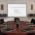 Click here for more Proma Projection Porcelain Whiteboard with Map Rail and Aluminum Frame by Ghent by Worthington