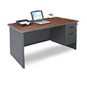 Pronto Single Pedestal Desks by Marvel