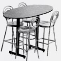 Ellipse Cafe Tables by Amtab
