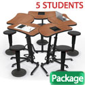 Click here for more Up-Rite Harmony Sit and Stand Desk & Grow Stool Package by Mooreco by Worthington