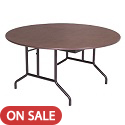 Round Plywood Core Folding Tables by Amtab