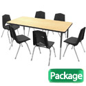 Rectangle Activity Table & 6 Chair Package Set by Marco Group
