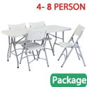 Click here for more Rectangle Folding Table & Plastic Folding Chair Packages by National Public Seating by Worthington