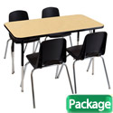 Click here for more Package - Rectangle Activity Table & Chair Sets by ECR4Kids by Worthington