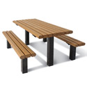 Recycled Multi-Pedestal Picnic Table by UltraPlay
