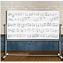 Click here for more Reversible Mobile Magnetic Music Whiteboard by Luxor by Worthington