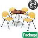 Breakroom Table & Four Rico Chairs by OFM