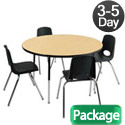 Click here for more Package - Round Activity Table & Chair Sets by ECR4Kids by Worthington