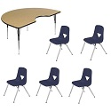 "Click here for more Activity Table Package w/ 120 Series 17-1/2""H Chairs by Scholar Craft by Worthington"