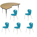 "Click here for more Activity Table Package w/ Ovation 16""H Chairs by Scholar Craft by Worthington"