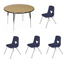 "Click here for more Activity Table Package w/ 120 Series 15-1/2""H Chairs by Scholar Craft by Worthington"
