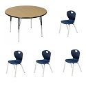 "Click here for more Activity Table Package w/ Ovation 18""H Chairs by Scholar Craft by Worthington"