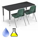 Adjustable Height Laminate Science Lab Tables by Smith System