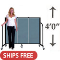 Click here for more 4' H Freestanding Portable Partition by Screenflex by Worthington