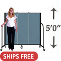 Click here for more 5' H Freestanding Portable Partition by Screenflex by Worthington