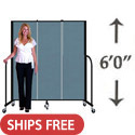 Click here for more 6' H Freestanding Portable Partition by Screenflex by Worthington