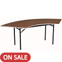 Click here for more Serpentine Stained Plywood Top Folding Tables by Amtab by Worthington