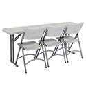 Click here for more Plastic Resin Seminar Folding Tables by NPS by Worthington