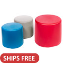 Session Circle Plastic Stool Seating by Tenjam