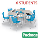 Click here for more Shapes Desk & Hierarchy Chair Packages by Mooreco by Worthington