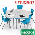 Shapes Desk & Hierarchy Chair Packages by Mooreco