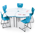 Click here for more Shapes Desk w/ White Dry Erase Top by Balt by Worthington
