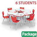 Dry Erase Shapes Desk & Hierarchy Chair Packages by Mooreco