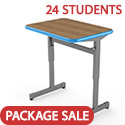 Click here for more Classroom Set- 24 Silhouette Desks by Smith System by Worthington