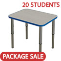 Classroom Set- 20 Synergy Single Student Desks by Tesco