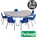 Click here for more Package - Preschool Kidney Activity Table & Chair Sets by ECR4Kids by Worthington