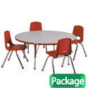 Click here for more Package - Preschool Round Activity Table & Chair Sets by ECR4Kids by Worthington