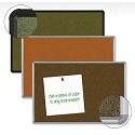 Colorful Splash-Cork Tackboard w/ Presidential Trim by Best-Rite