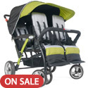 Click here for more Quad Sport 4 Passenger Stroller by Foundations by Worthington