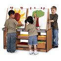 Sproutz 4 Station Easel by Jonti-Craft