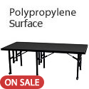 Fixed Height Stages w/ Polypropylene Surface by Amtab