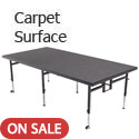 Dual Height Stages w/ Carpet Surface by Amtab