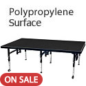 Dual Height Stages w/ Polypropylene Surface by Amtab