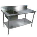 Stainless Steel Prep Sinks by Diversified Woodcrafts