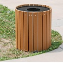 Click here for more Resinwood Round Receptacles by Jayhawk Plastics by Worthington