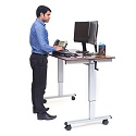 Crank Adjustable Stand Up Desks by Luxor