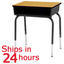 Click here for more Scholar Craft 2200 Open Front Desk- Quick Ship by Worthington