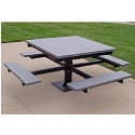 Click here for more T-Table Outdoor Picnic Tables by Jayhawk Plastics by Worthington