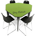 Dry Erase Tall Kite Mobile Flip-Top Nest Tables by Muzo
